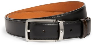 Montblanc Leather Rectangle Buckle Belt