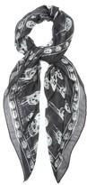 Alexander McQueen Dripping skull-print silk-blend scarf