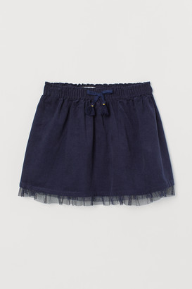 H&M Corduroy Skirt with Tulle