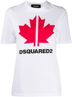 DSQUARED2 maple leaf print T-shirt