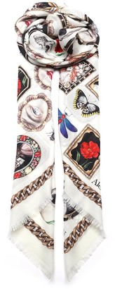 Alexander McQueen Graphic Printed Scarf