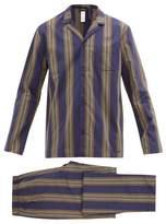 Hanro - Night And Day Striped Cotton Poplin Pyjamas - Mens - Multi