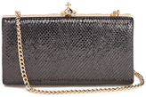 Vivienne Westwood Women's Verona Metallic Leather Large Clutch Bag with Chain Black