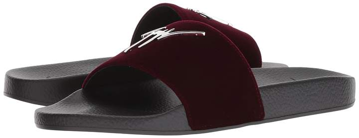 Giuseppe Zanotti Burel Velvet Slide Men's Slide Shoes