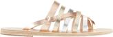 Ancient Greek Sandals Gaia Two-Tone Metallic Sandals