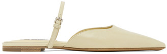 Jil Sander Yellow Open Back Ballerina Flats