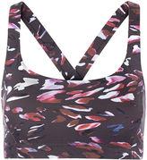 Varley Black Tiger Lily Print Crop Top