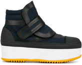 Marni flatform boots - women - Leather/Nylon/rubber - 36