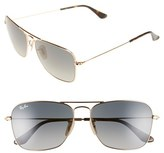 Ray-Ban 'Caravan' 58mm Aviator Sunglasses