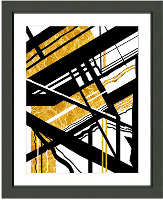 Vintage Print Gallery Avant-Garde Geometric Abstraction I Framed Graphic Art