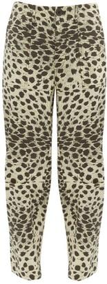 Sea Low-rise Leopard-print Cotton Trousers - Womens - Leopard