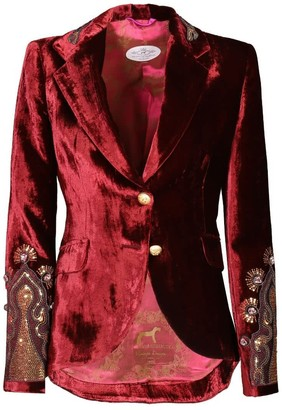 The Extreme Collection Red Velvet Blazer Romantique