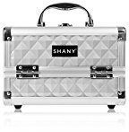 SHANY Mini Makeup Train Case With Mirror - Silver