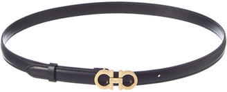 Salvatore Ferragamo Gancini Thin Leather Belt