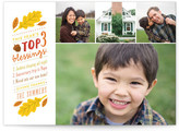 Minted Top 3 Blessings Thanksgiving Cards