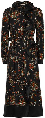 Tory Burch Floral-print ruffled silk midi dress
