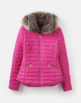 Joules 208753 Padded Coat With Faux Fur Trim Hood