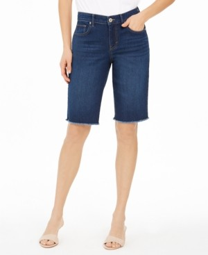 Style&Co. Style & Co Raw-Edge Denim Bermuda Shorts, Created for Macy's