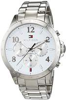 Tommy Hilfiger Womens Quartz Watch, multi dial Display and Stainless Steel Strap 1781641