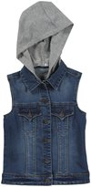 Tractr Basic Hooded Vest (Kid) - Vintage Indigo-Small