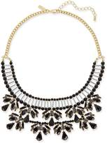 INC International Concepts Two-Tone Jet Stone and Bead Statement Necklace, Created for Macy's