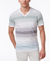 INC International Concepts Men's Striped Cotton V-Neck T-Shirt, Created for Macy's