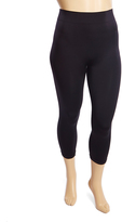 Black Ribbed-Waistband Leggings - Plus Too
