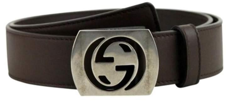 Gucci Men's Leather Interlocking G Belt 387031 2140 (100/40)