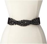 BCBGMAXAZRIA Braided Stone Waist Belt w/ Leather