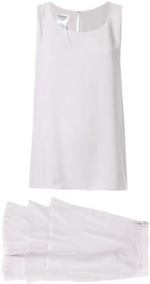 Chanel Pre-Owned CC Setup Sleeveless Tops Skirt