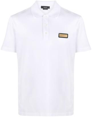 Versace Logo-Plaque Polo Shirt
