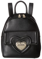 Love Moschino Leather Mini Backpack Backpack Bags