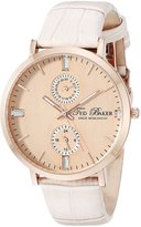 Ted Baker Women's TE2104 Smart Casual Rose Dial Case Pink Strap Watch