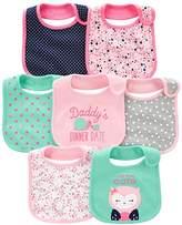 Simple Joys by Carter's Baby Girls' 7-Pack Teething Bib