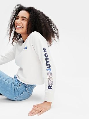 Gap Teen Cropped Crewneck Sweatshirt