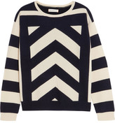 Chinti and Parker Intarsia Wool And Cashmere-blend Sweater - Midnight blue