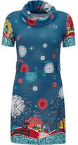 Joe Browns Women's Short Sleeve Tunic with Cat Print