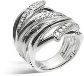 John Hardy Women's Sterling Silver Bamboo Diamond Pavé Extra Wide Ring
