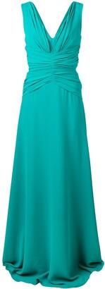 Rhea Costa Classic Ruched Gown