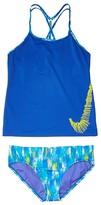 Nike Sprinkles T-Cross-Back Tankini Set (Little Kids/Big Kids) (Black) Girl's Swimwear Sets