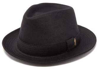 Borsalino Cashmere-felt Trilby Hat - Mens - Black