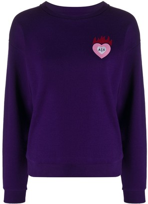 Armani Exchange Heart-Logo Sweatshirt
