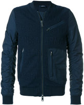 Armani Jeans logo bomber jacket