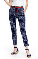 Lands' End Women's Petite Mid Rise Chino Crop Pants-Deep Sea Print