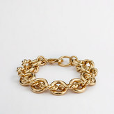 J.Crew Factory Gold-plated chain-link bracelet