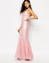Fame and Partners Shimmer Soul All Over Sequin Maxi Dress