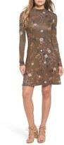 BP Print Mock Neck Dress