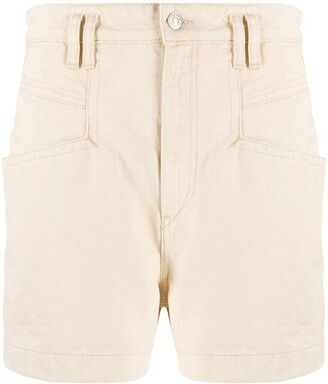 Isabel Marant High-Waisted Cotton Shorts