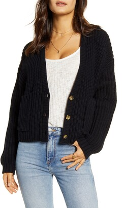 Billabong Cali Nights Cotton Blend Crop Cardigan