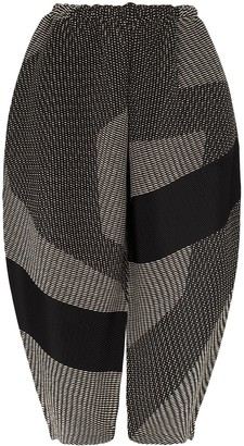 Issey Miyake Patchwork Pleated Trousers